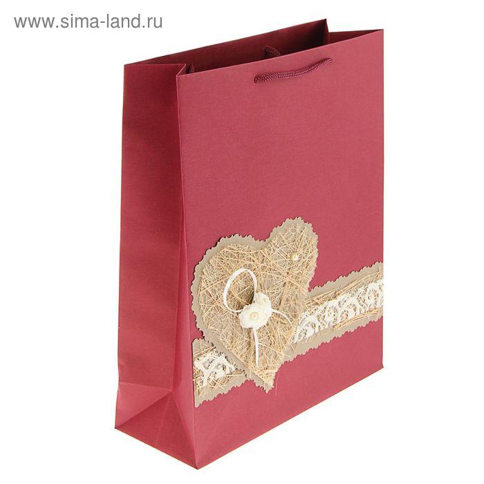 """Пакет подарочный """"Влюбленность"""" 32 х 25 х 10 см"""