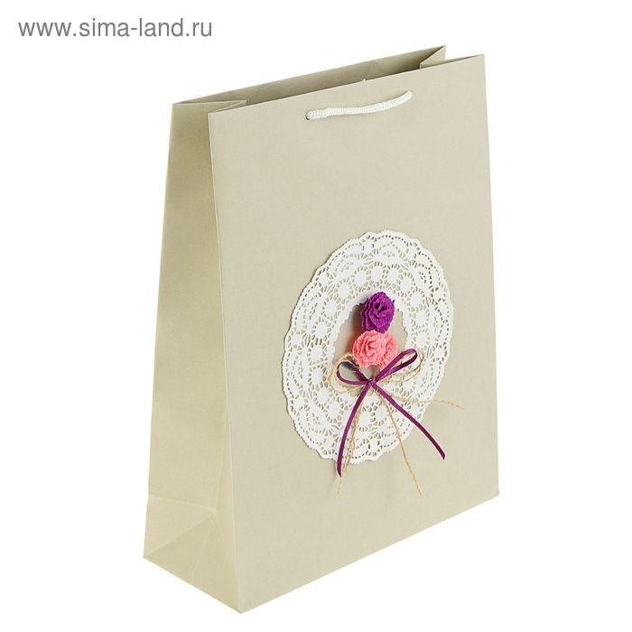 """Пакет подарочный """"Кружево"""" 32 х 25 х 10 см"""