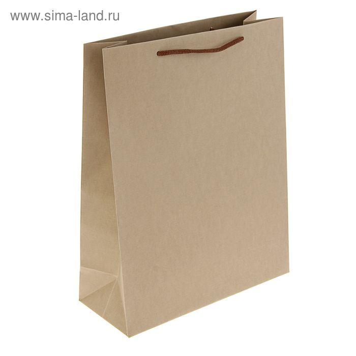 Пакет подарочный 32 х 25 х 10 см, бежевый