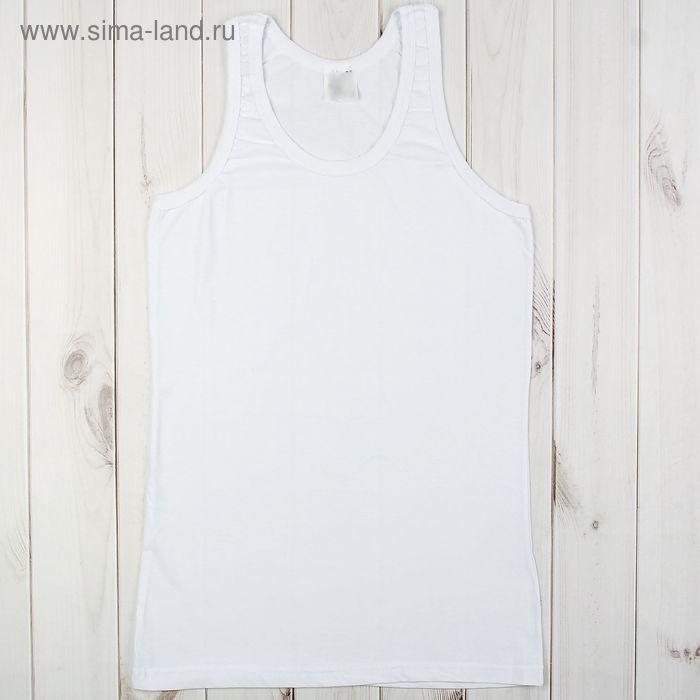 Майка мужская арт.а4060 цвет белый, р-р 48