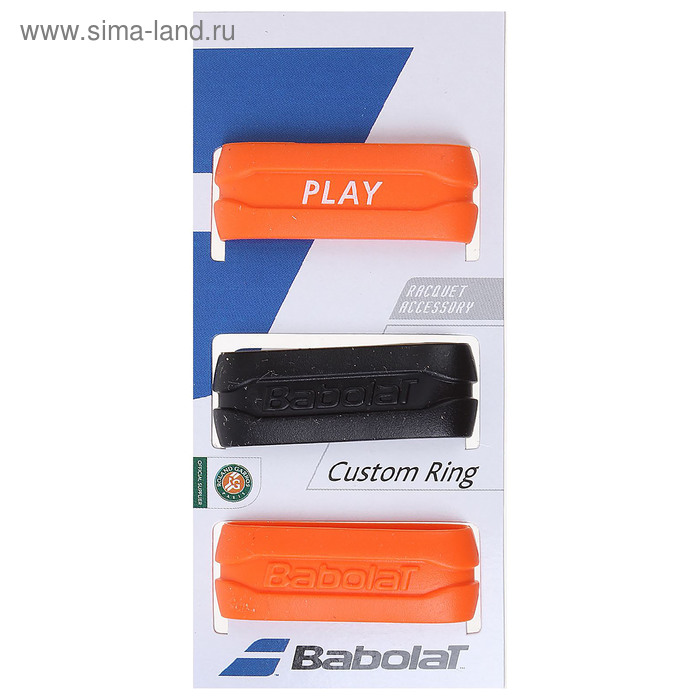 Кольцо на ручку ракетки Сustom Ring, цвет чёрно-оранжевый