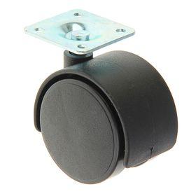 Колесо мебельное, d=50 мм, черное