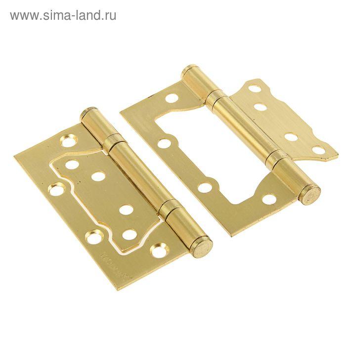 Навес TRODOS, 100х75х2 мм, без врезки, цвет золото/матовое золото