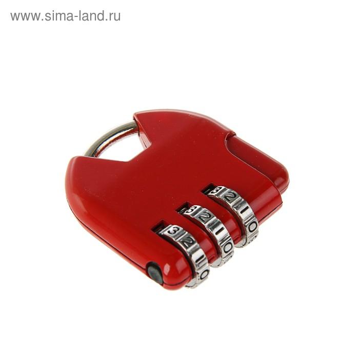 Замок навесной TRODOS CL532, кодовый, красный