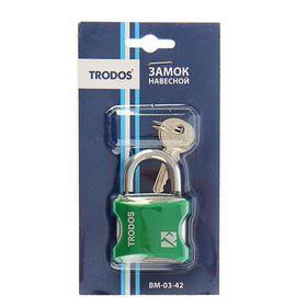 Замок навесной TRODOS BM-03-42, зеленый