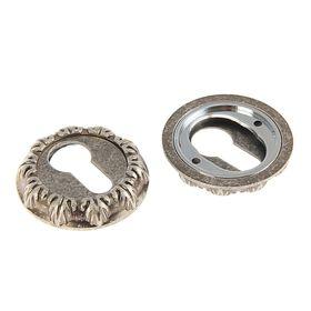 Накладка на цилиндровый механизм TRODOS Premium ET10 DAS, цвет  античное серебро