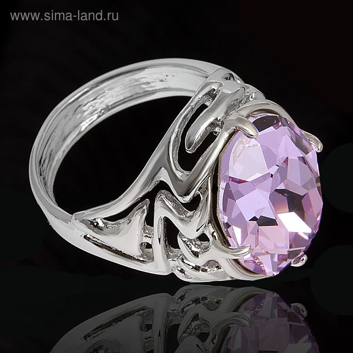 """Кольцо """"Маримба"""", размер 19, цвет фиолетовый в серебре"""