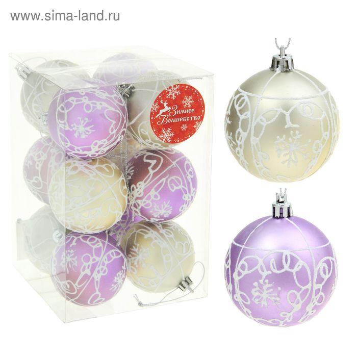 """Новогодние шары """"Метелица"""" завитки (набор 12 шт.)"""