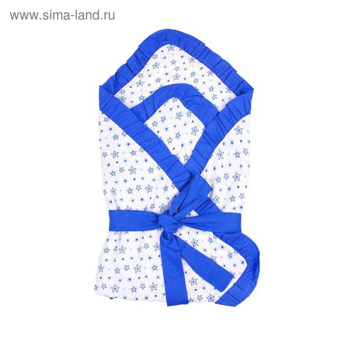"""Одеяло на липучке нарядное """"Эдельвейс"""", размер 80х80 см, цвет голубой 11002"""