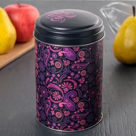 Банка для сыпучих продуктов «Бута», 10×16 см, 1,1 л, цвет лиловый