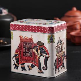 Банка для сыпучих продуктов «Индийский слон», 6,7×9,8×9,8, 0,6 л, цвет МИКС