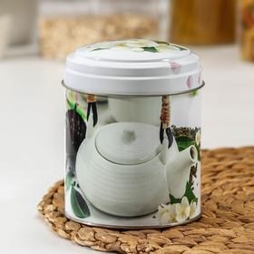 Банка для сыпучих продуктов Рязанская фабрика жестяной упаковки «Чайная церемония», 800 мл, круглая, МИКС