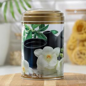 Банка для сыпучих продуктов «Чайная церемония», 1,1 л, d=9,9 см