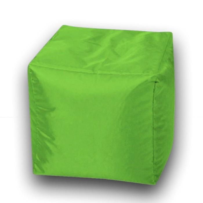 Пуфик Куб мини, ткань нейлон, цвет салатовый