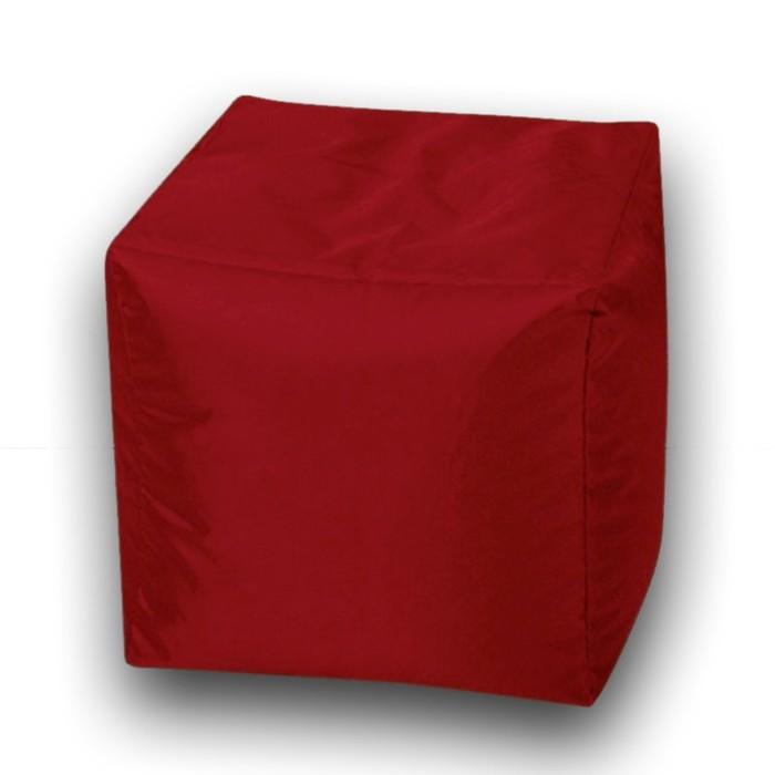 Пуфик Куб мини, ткань нейлон, цвет бордовый
