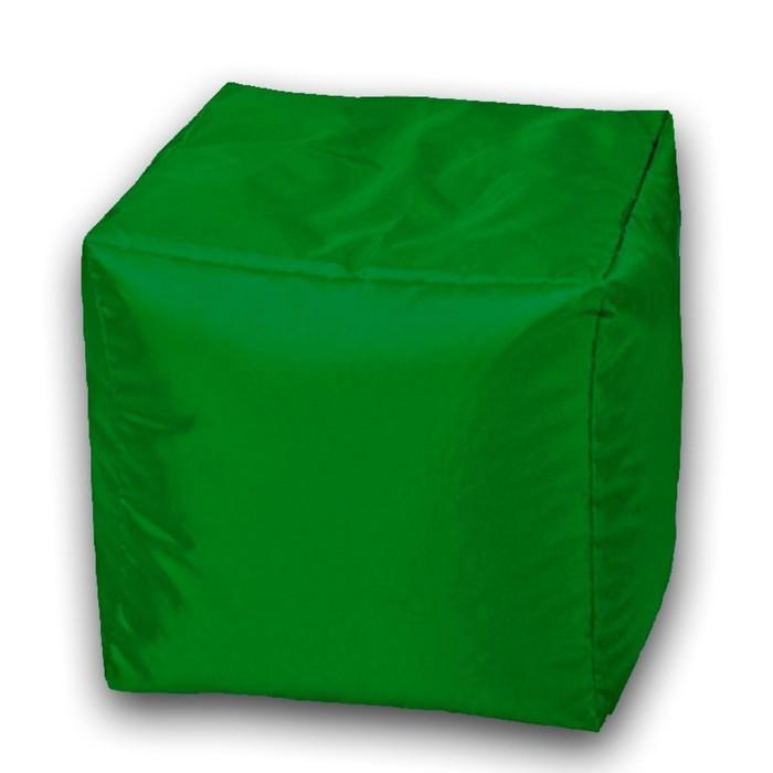 Пуфик Куб макси, ткань нейлон, цвет зеленый