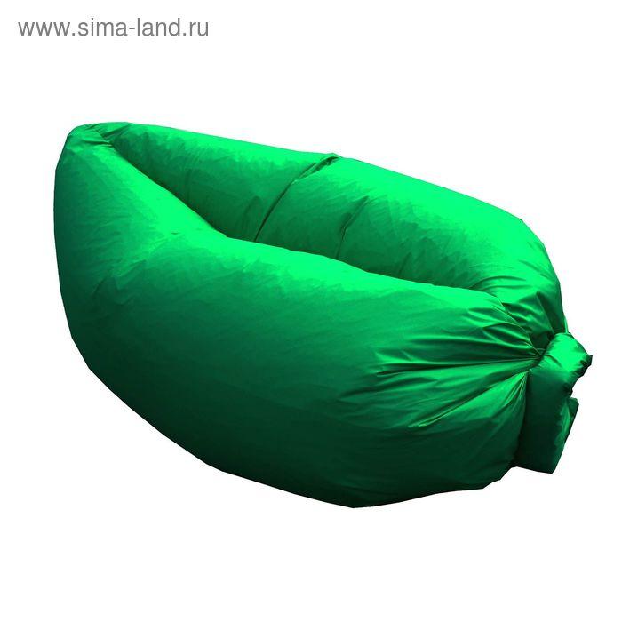 Кресло-лежак Надувной, ткань нейлон, цвет зеленый