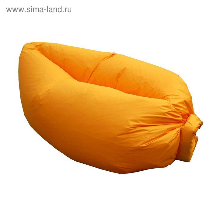 Кресло-лежак Надувной, ткань нейлон, цвет оранжевый люмин