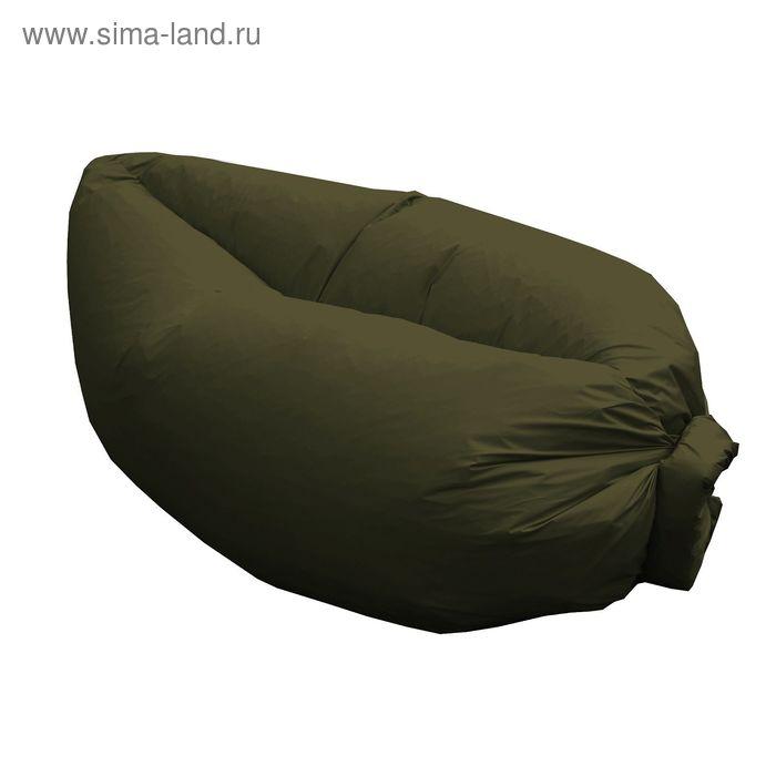 Кресло-лежак Надувной, ткань нейлон, цвет хаки