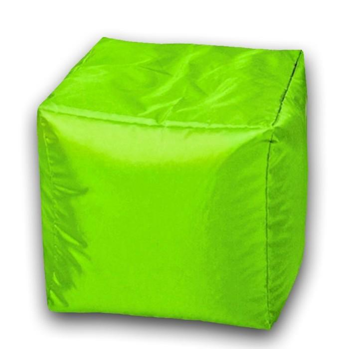 Пуфик Куб макси, ткань нейлон, цвет салатовый люмин
