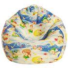 Кресло-мешок Малыш, ткань поплин, принт ангелочки