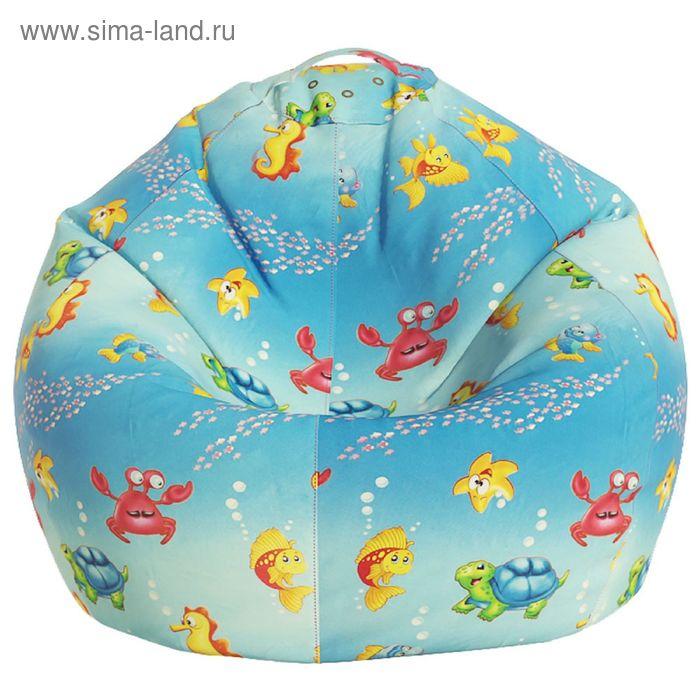 Кресло-мешок Малыш, ткань поплин, принт морская сказка