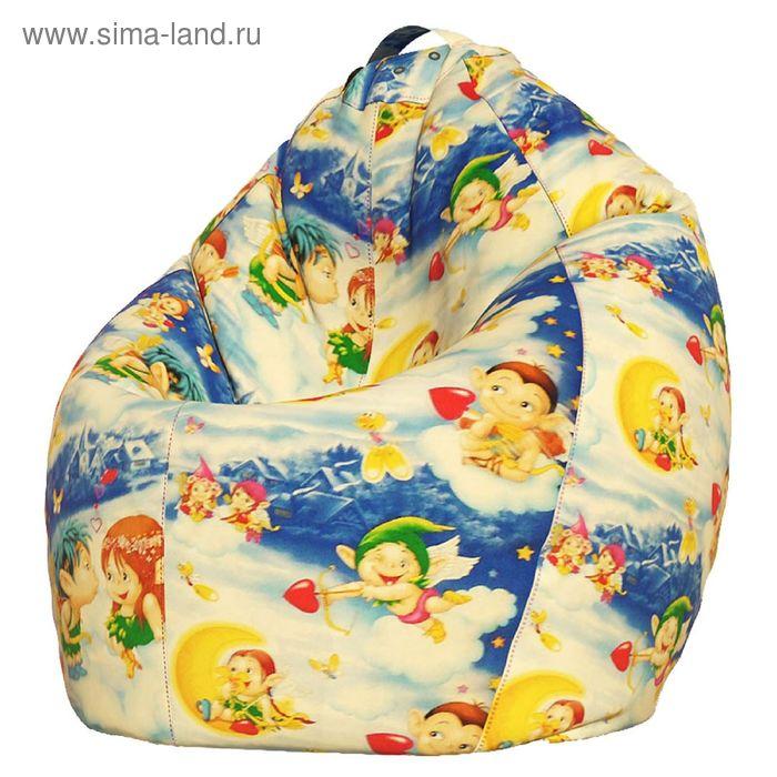 Кресло-мешок Стандарт, ткань поплин, принт ангелочки
