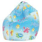 Кресло-мешок Стандарт, ткань поплин, принт морская сказка