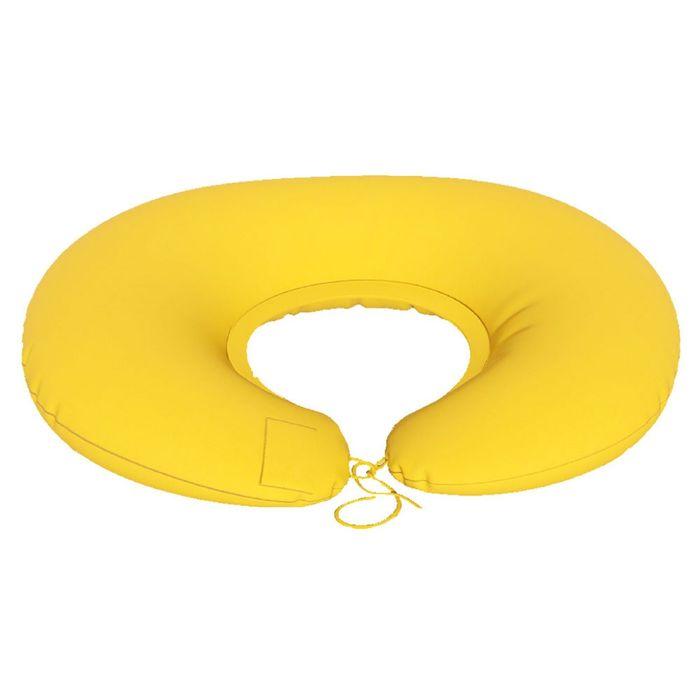 Подушка для беременных Подкова, ткань плюш, цвет желтый, гранулы
