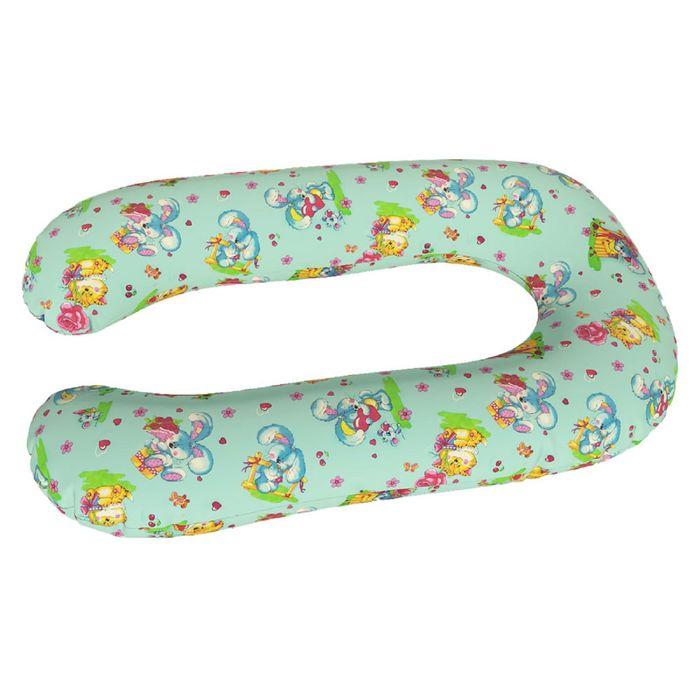 Подушка для беременных Комфорт, ткань бязь, принт милашки, чипсы