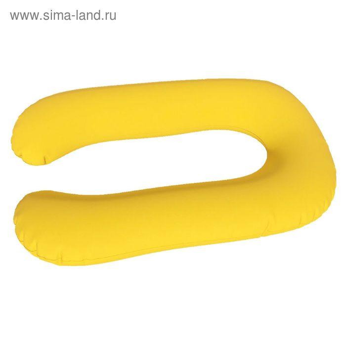 Подушка для беременных Комфорт, ткань плюш, цвет желтый, чипсы