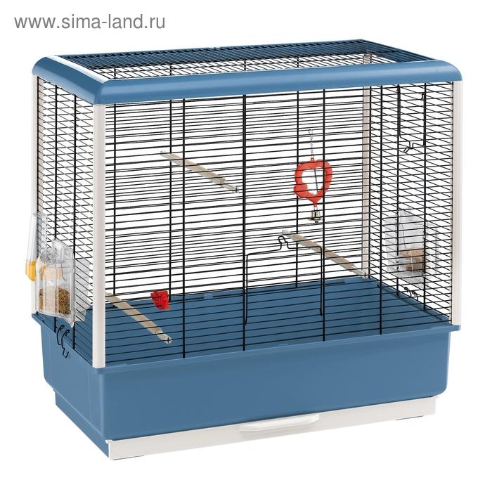 Клетка Ferplast Piano 4 для птиц, 59x33x60 см, черная