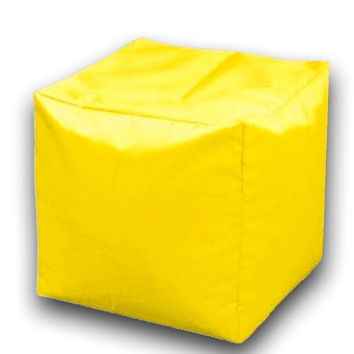 Пуфик Куб мини, ткань нейлон, цвет желтый