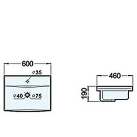 Раковина COMFORTY XD-S60