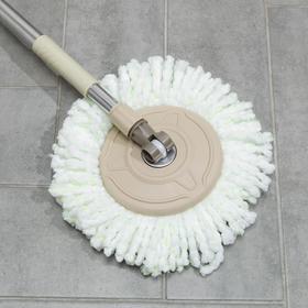 Набор для уборки: швабра, ведро с металлической центрифугой 20 л, запасная насадка из микрофибры, ножки, цвет МИКС