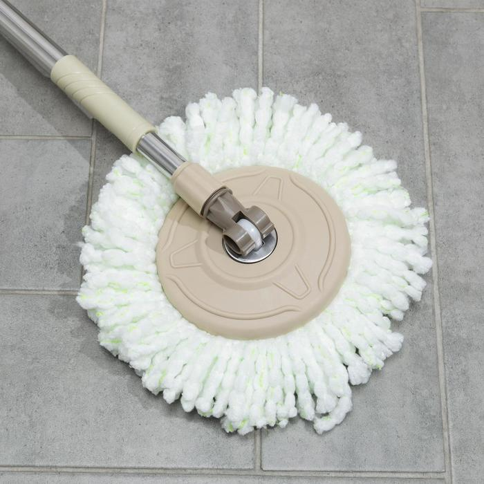 Набор для уборки: ведро на ножках с металлической центрифугой 20 л, швабра, запасная насадка из микрофибры цвет МИКС