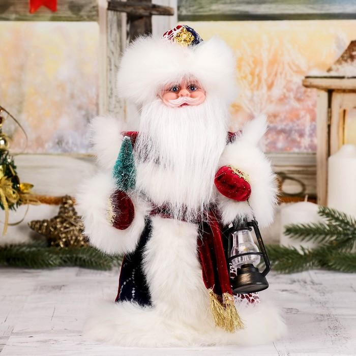 """Дед Мороз """"Шик"""", в синей шубе, с фонарём, русская мелодия"""