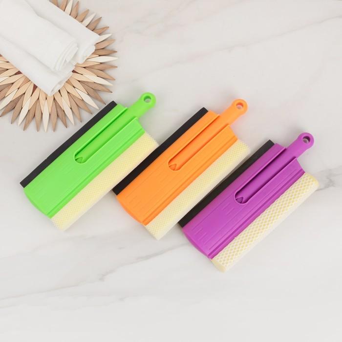 Окномойка складная с пластиковой ручкой 34х20 см