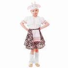 """Карнавальный костюм """"Овечка"""", блузка, юбка с фартуком, меховой жилет, шапка, гетры, р-р 56, рост 98-104 см"""