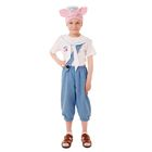 """Карнавальный костюм """"Поросёнок Нуф-Нуф"""", бриджи, футболка, воротник, шапка, р-р 56, рост 98-104 см"""