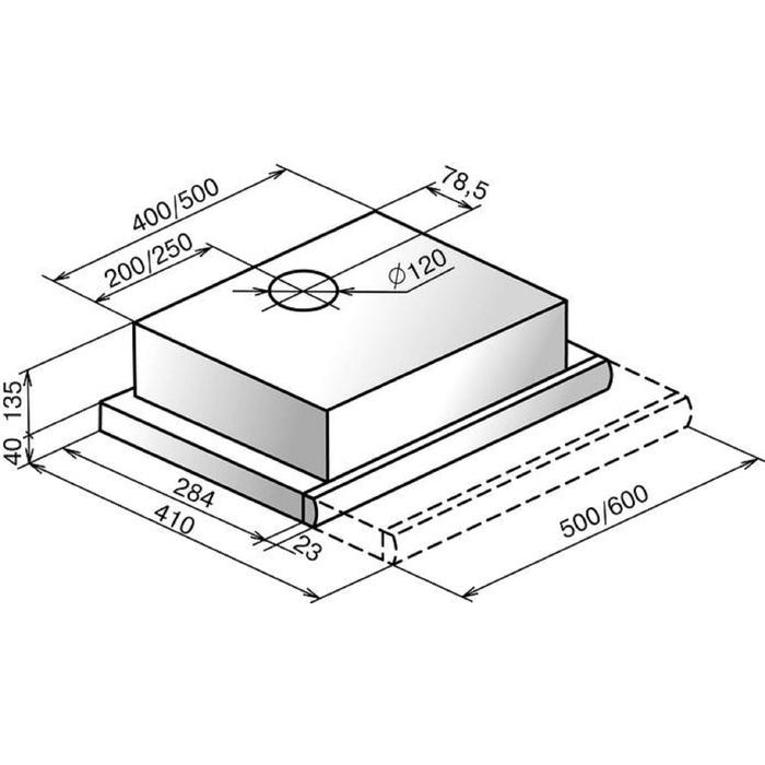 Вытяжка Elikor Интегра GLASS 60Н-400-В2Г, нержавейка/стекло чёрное