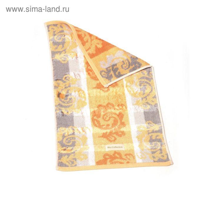"Полотенце махровое Купу-Купу ""Bio-Color"", цвет оранжевый, размер 32х50 см, бамбук 500 г/м2"