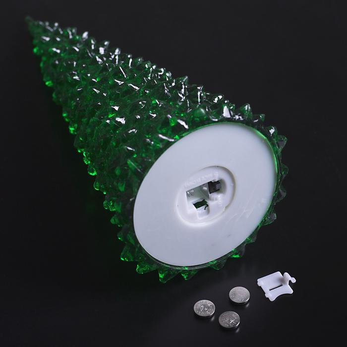 "Игрушка световая ""Ёлочка"" (батарейки в комплекте) 27 см, 1 LED, RGB, ЗЕЛЁНАЯ"