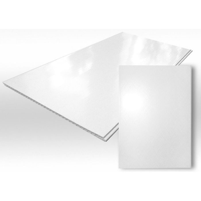 Панель ПВХ Белая глянцевая  2,7х0,375
