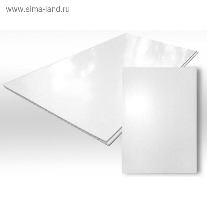 Панель ПВХ Белая глянцевая  3,0х0,25