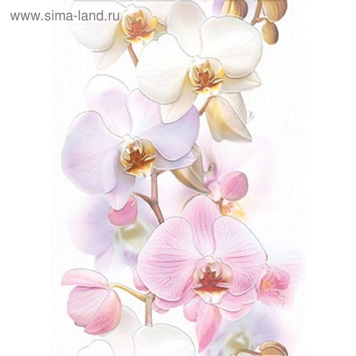 Вставка керамическая Tropicana TC2M051DT Орхидея, белая, 250х350 мм