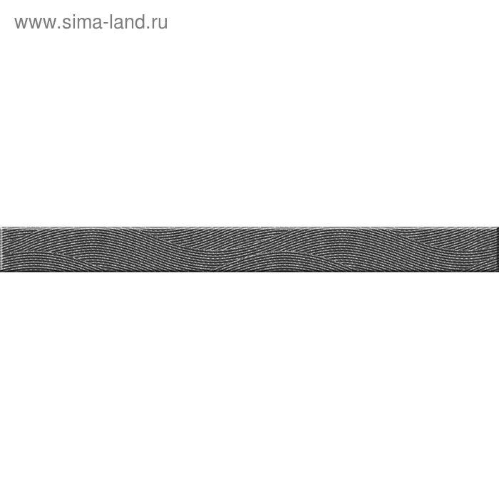 Бордюр стеклянный Wave WA7H401, тёмно-серый, 40х440 мм
