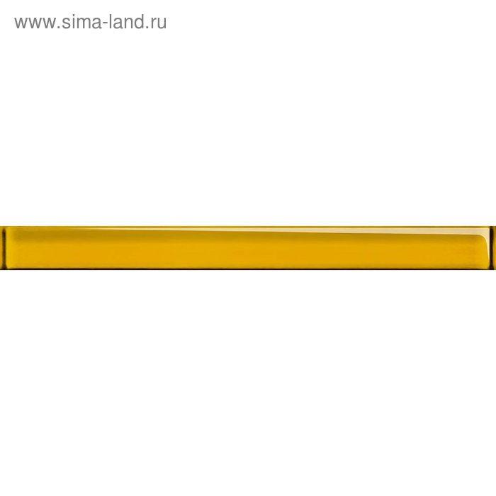 Бордюр стеклянный Universal Glass UG1H061, жёлтый, 40х450 мм