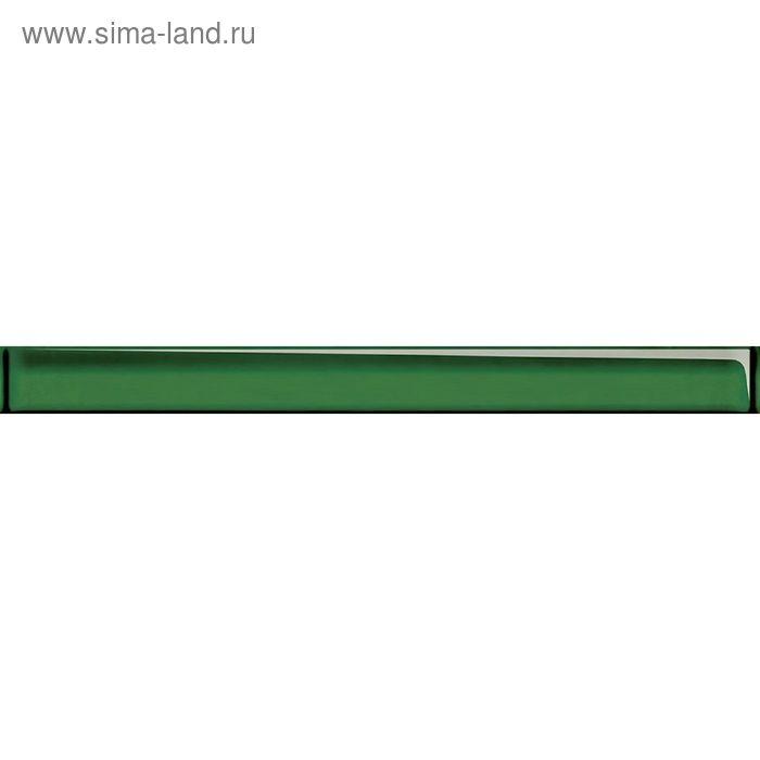 Бордюр стеклянный Universal Glass UG1H021, зелёный, 40х450 мм