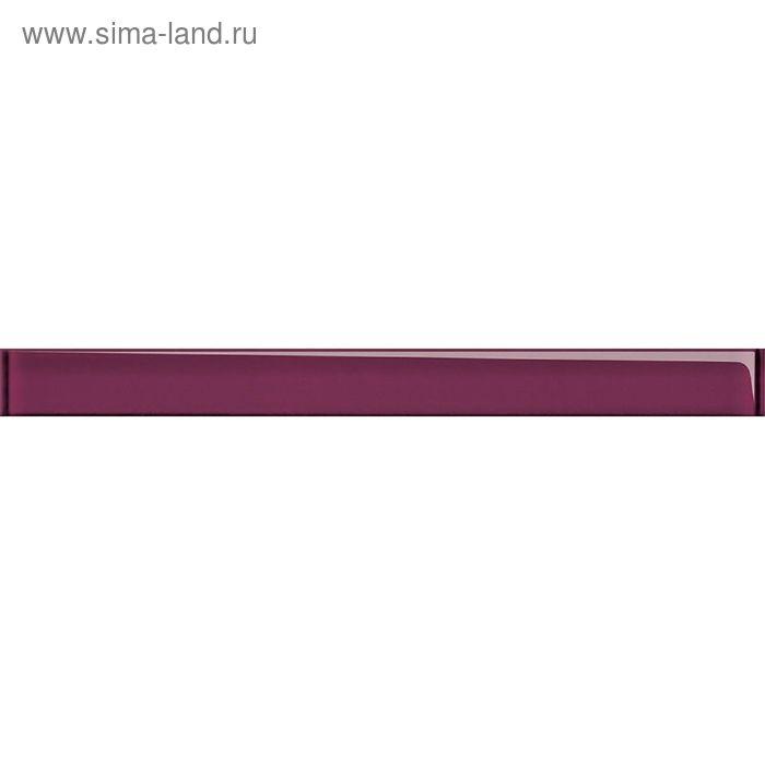 Бордюр стеклянный Universal Glass UG1H221, сиреневый, 40х450 мм